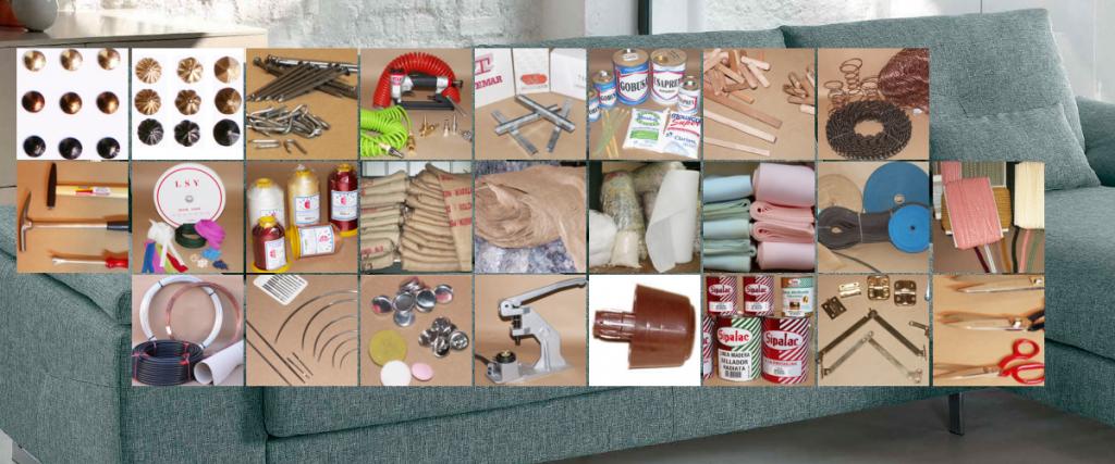 Tapicería - Materiales , insumos para tapicería