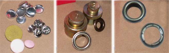 botones, prensa, ojetillos para tapicería